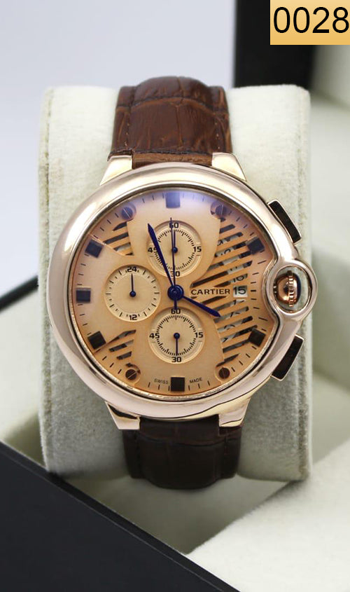 WAGW-0028 - MEN'S WRIST WATCH WITH LEATHER STRAPS
