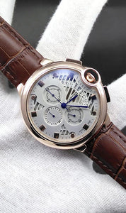 WAGW-0029 - MEN'S WRIST WATCH WITH LEATHER STRAPS