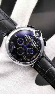 WAGW-0031 - MEN'S WRIST WATCH WITH LEATHER STRAPS