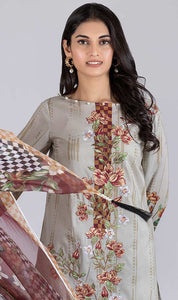 WOBS-0163 - ORIGINAL BONANZA SATRANGI UNSTITCHED LAWN 3PCS EMBROIDERED SUIT