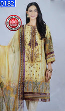 Load image into Gallery viewer, WOBS-0182 - ORIGINAL BONANZA SATRANGI UNSTITCHED COTTON 3PCS EMBROIDERED SUIT