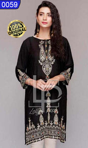 WOLP-0059 - ORIGINAL LOLLYPOP STITCHED LAWN EMBROIDERED KURTI - READY TO WEAR