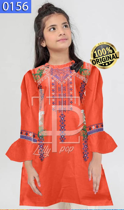 WOLP-0156 - ORIGINAL LOLLYPOP STITCHED COTTON EMBROIDERED KURTI - READY TO WEAR