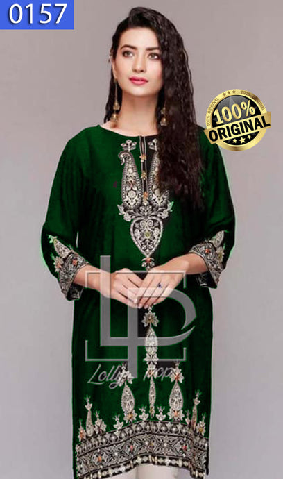 WOLP-0157 - ORIGINAL LOLLYPOP STITCHED LAWN EMBROIDERED KURTI - READY TO WEAR