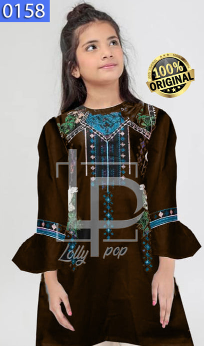 WOLP-0158 - ORIGINAL LOLLYPOP STITCHED COTTON EMBROIDERED KURTI - READY TO WEAR