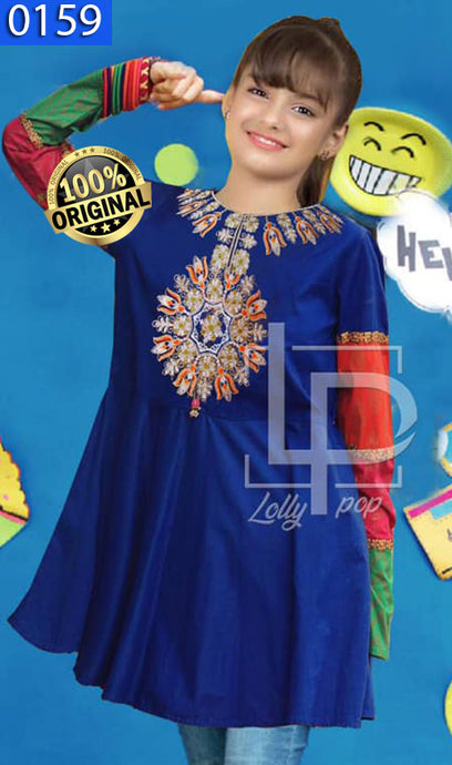 WOLP-0159 - ORIGINAL LOLLYPOP STITCHED COTTON EMBROIDERED KURTI - READY TO WEAR