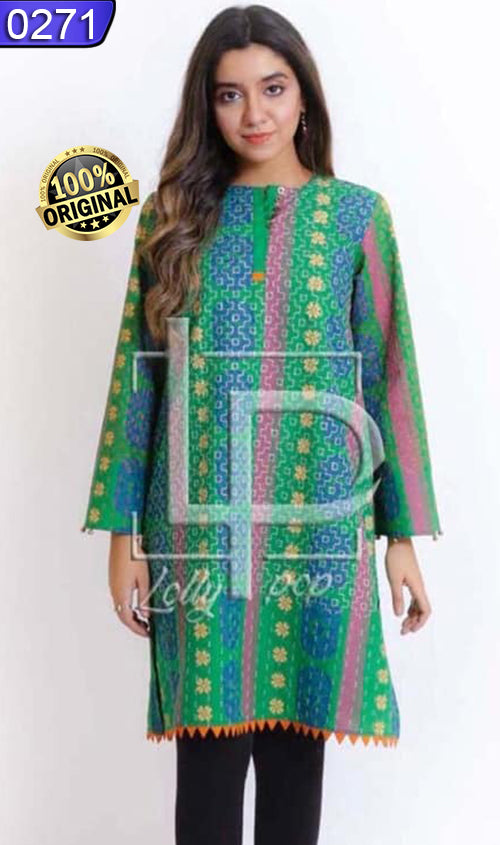 WOLP-0271 - ORIGINAL LOLLYPOP STITCHED COTTON EMBROIDERED KURTI - READY TO WEAR