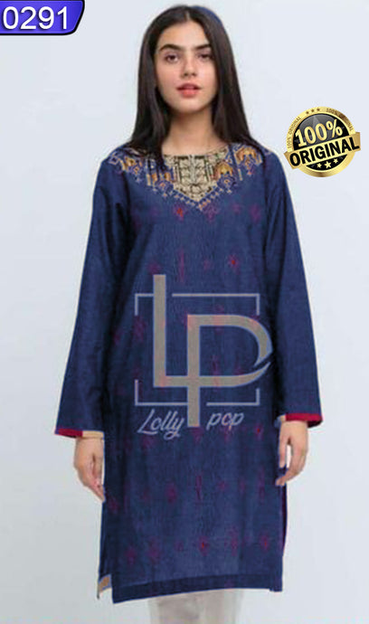 WOLP-0291 - ORIGINAL LOLLYPOP STITCHED COTTON EMBROIDERED KURTI - READY TO WEAR
