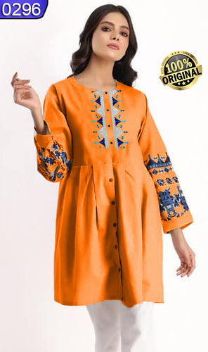 WOLP-0296 - ORIGINAL LOLLYPOP STITCHED COTTON EMBROIDERED KURTI - READY TO WEAR
