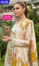 Load image into Gallery viewer, WOSP-0028 - ORIGINAL SAPPHIRE UNSTITCHED LAWN 2PCS PRINTED SUIT