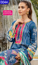 Load image into Gallery viewer, WOSP-0044 - ORIGINAL SAPPHIRE UNSTITCHED LAWN 2PCS PRINTED SUIT