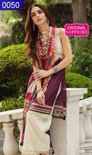 Load image into Gallery viewer, WOSP-0050 - ORIGINAL SAPPHIRE UNSTITCHED LAWN 3PCS PRINTED SUIT