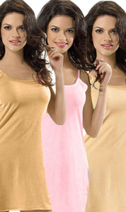 PACK-OF-3-LADIES-VEST-2 - PACK OF 3 LADIES VEST / SLIP / CAMISOLE (SKIN-PEACH-BUTTER MILK)