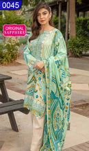 Load image into Gallery viewer, WOSP-0045 - ORIGINAL SAPPHIRE UNSTITCHED LAWN 2PCS PRINTED SUIT