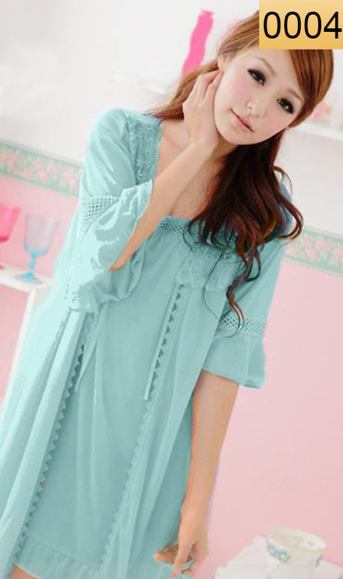 WANT-0004 - 3PCS NIGHTY IMPORTED SATIN MATERIAL WITH INNER-GOWN