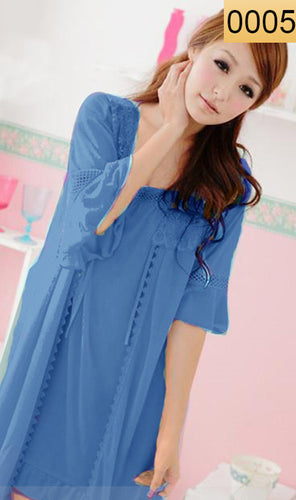 WANT-0005 - 3PCS NIGHTY IMPORTED SATIN MATERIAL WITH INNER-GOWN