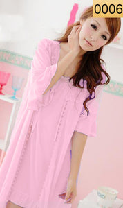 WANT-0006 - 3PCS NIGHTY IMPORTED SATIN MATERIAL WITH INNER-GOWN