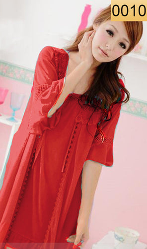 WANT-0010 - 3PCS NIGHTY IMPORTED SATIN MATERIAL WITH INNER-GOWN