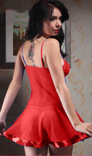 Load image into Gallery viewer, WANT-0117 - 502-RED SLEEVELESS NIGHTY IMPORTED NET MATERIAL