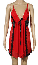 Load image into Gallery viewer, WANT-0217 - 8100-RED - SLEEVELESS SHORT NIGHTY IMPORTED NET MATERIAL