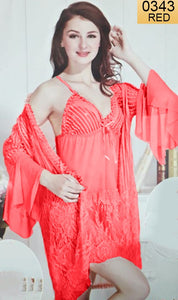 WANT-0343 - 1172-RED - SHORT NIGHTY IMPORTED NET MATERIAL