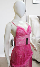 Load image into Gallery viewer, WANT-0387 - 309-PINK - SLEEVELESS SHORT NIGHTY IMPORTED NET MATERIAL