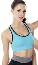 Load image into Gallery viewer, WASB-0025 - FRONT ZIP SPORTS BRA IMPORTED - STRETCHABLE MATERIAL
