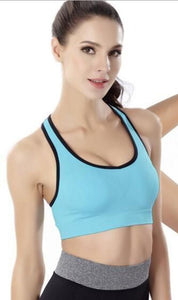 WASB-0025 - FRONT ZIP SPORTS BRA IMPORTED - STRETCHABLE MATERIAL