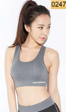 Load image into Gallery viewer, WASB-0247 - WOMEN PADDED SPORTS BRA GYM FITNESS WORKOUT RUNNING - STRETCHABLE MATERIAL