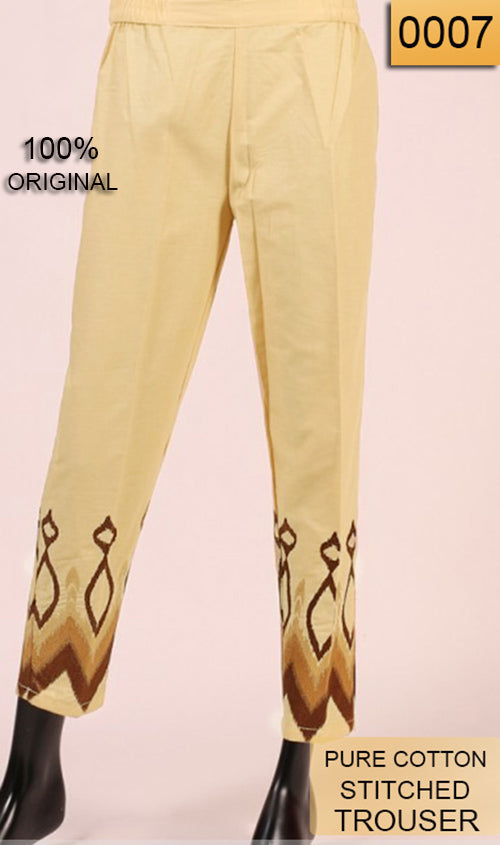 WATR-0007 - STITCHED STYLISH TROUSER EMBROIDERED