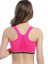 Load image into Gallery viewer, WASB-0024 - FRONT ZIP SPORTS BRA IMPORTED - STRETCHABLE MATERIAL