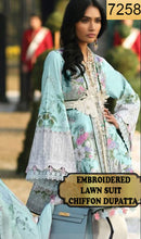 Load image into Gallery viewer, WYAB-7258 - EMBROIDERED DESIGNER 3PC LAWN SUIT WITH CHIFFON DUPATTA - SUMMER COLLECTION 2019 / 2020