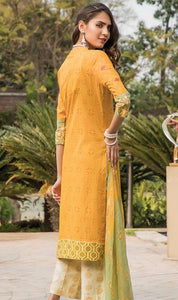 WYAH-7141 - FULL EMBROIDERED DESIGNER 3PC ORIGINAL LAWN SUIT WITH CHIFFON DUPATTA - SUMMER COLLECTION 2019 - 2020