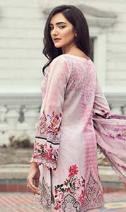 WYAO-7427 EMBROIDERED DESIGNER 3PC LAWN SUIT WITH CHIFFON DUPATTA - SUMMER COLLECTION 2019 / 2020