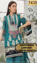 Load image into Gallery viewer, WYAO-7435 EMBROIDERED DESIGNER 3PC LAWN SUIT WITH CHIFFON DUPATTA - SUMMER COLLECTION 2019 / 2020