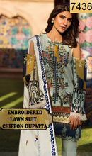Load image into Gallery viewer, WYAO-7438 EMBROIDERED DESIGNER 3PC LAWN SUIT WITH CHIFFON DUPATTA - SUMMER COLLECTION 2019 / 2020