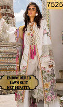Load image into Gallery viewer, WYED-7525 - FULL EMBROIDERED DESIGNER 3PC LAWN SUIT WITH NET DUPATTA - SUMMER COLLECTION 2019/2020