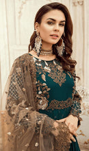 Load image into Gallery viewer, WYED-7559 - FULL EMBROIDERED DESIGNER 3PC CHIFFON SUIT WITH NET DUPATTA - PARTY WEAR DRESS 2019/2020