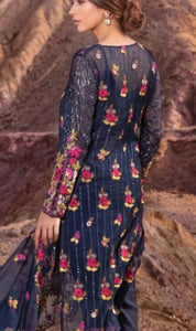 WYHR-1789-FULL EMBROIDERY Designer 3PC CHIFFON Suit With CHIFFON Dupatta - PARTY WEAR DRESS
