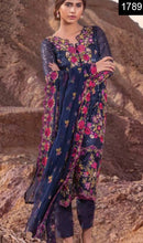 Load image into Gallery viewer, WYHR-1789-FULL EMBROIDERY Designer 3PC CHIFFON Suit With CHIFFON Dupatta - PARTY WEAR DRESS