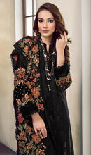 Load image into Gallery viewer, WYMM-7631 - FULL EMBROIDERED DESIGNER 3PC COTTON SUIT WITH CHIFFON DUPATTA - PARTY WEAR DRESS 2019 / 2020
