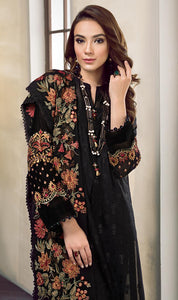 WYMM-7631 - FULL EMBROIDERED DESIGNER 3PC COTTON SUIT WITH CHIFFON DUPATTA - PARTY WEAR DRESS 2019 / 2020