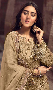 WYMM-8038 - FULL EMBROIDERED DESIGNER 3PC CHIFFON SUIT WITH CHIFFON DUPATTA - PARTY WEAR DRESS 2020 / 2021