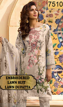 Load image into Gallery viewer, WYRM-7510 - NECK EMBROIDERED DESIGNER 3PC LAWN SUIT WITH LAWN DUPATTA - SUMMER COLLECTION 2020 / 2021