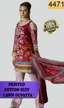 Load image into Gallery viewer, WYSC-4471 - PRINTED ORIGINAL 3PC COTTON SUIT With LAWN DUPATTA - SUMMER COLLECTION 2018- 2019