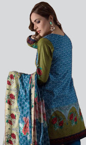 WYSC-4480 - PRINTED ORIGINAL 3PC COTTON SUIT With LAWN DUPATTA - SUMMER COLLECTION 2018- 2019