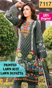 WYSC-7117 - PRINTED ORIGINAL 3PC LAWN SUIT WITH LAWN DUPATTA - SUMMER COLLECTION 2019 - 2020