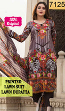 Load image into Gallery viewer, WYSC-7125 - PRINTED ORIGINAL 3PC LAWN SUIT WITH LAWN DUPATTA - SUMMER COLLECTION 2019 - 2020