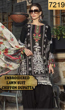 Load image into Gallery viewer, WYSH-7219 - EMBROIDERED DESIGNER 3PC LAWN SUIT WITH CHIFFON DUPATTA - SUMMER COLLECTION 2019 / 2020