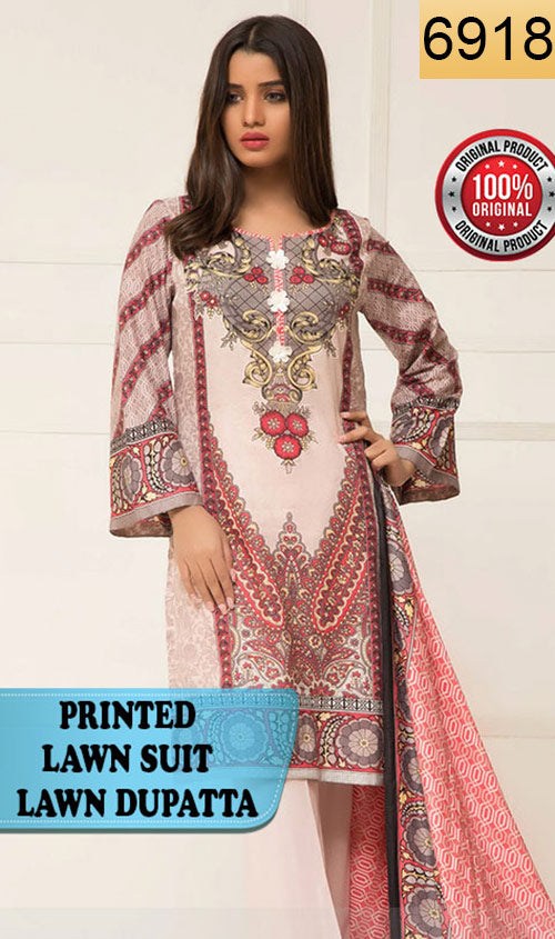 WYSI-6918 - PRINTED ORIGINAL 3PC LAWN SUIT WITH LAWN DUPATTA - SUMMER COLLECTION 2019 - 2020